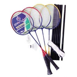 Set badminton joc dublu, cu fileu si fluturasi