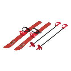Skiuri pentru copii, 66 cm, cu bete