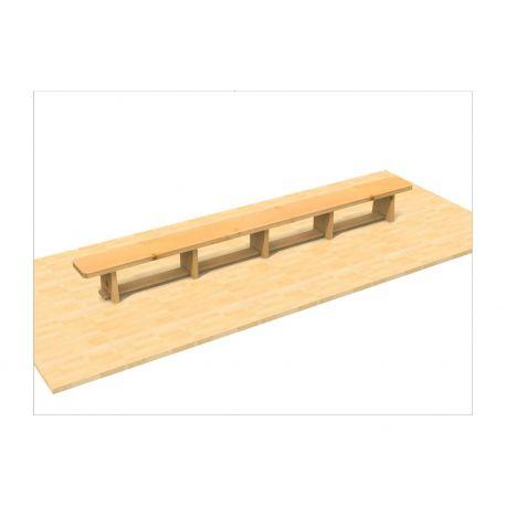 Banca gimnastica 3 m integral lemn