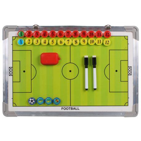 Tabla antrenor fotbal, magnetica, 2 fete, cu magneti